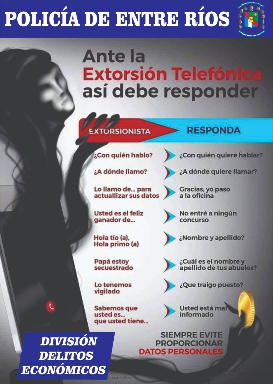 Prevención extrosión telefónica